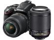 Nikon D3200 czarny + 18-55 VR + 55-200 VR
