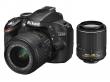 Nikon D3200 czarny + ob. 18-55 VRII + 55-200 VR II