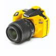EasyCover osłona gumowa dla Nikon D3200 żółta
