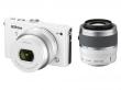 Nikon 1 J4 biały + ob. 10-30 mm PD-ZOOM + 30-110