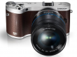 Samsung NX300M brązowy + ob.18-55 OIS i-Function + SEF-8A