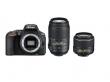 Nikon D5500 czarny + ob. 18-55 VR II + 55-300 VR