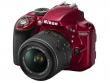 Nikon D3300 czerwony + ob. 18-55 VR II