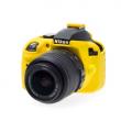 EasyCover osłona gumowa dla Nikon D3300/D3400  żółta