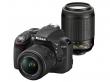 Nikon D3300 czarny + ob. 18-55 VR II + ob. 55-200 VR