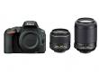 Nikon D5500 czarny + ob. 18-55 VR II + 55-200 VR