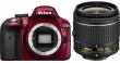 Nikon D3300 + AF-P 18-55 VR czerwony