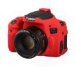 EasyCover osłona gumowa dla Canon 750D czerwona