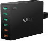 Aukey PA-T11 Ładowarka sieciowa 60W 15.6A 6xUSB A Quick Charge 3.0