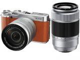 FujiFilm X-A2 brązowy + ob. XC 16-50mm + 50-230mm
