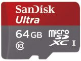Sandisk microSDXC 64 GB Ultra 80MB/s C10 UHS-I + adapter SD