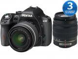 Pentax K-50 + ob. DAL 18-55 WR + 50-200 WR czarny