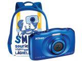 Nikon Coolpix S33 niebieski + plecak