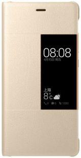 Huawei etui z klapką typu smart do P9 złoty