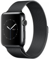Apple Watch Series 2 42mm ze stali nierdzewnej w kolorze gwiezdnej czerni z bransoletą mediolańską w kolorze gwiezdnej czerni