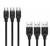 Aukey Zestaw kabli CB-CMD3 kabli USB C - 3 sztuki
