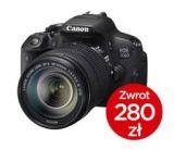 Canon EOS 700D + ob. 18-55 IS STM + ob. 10-18 IS STM + CASHBACK 280zł