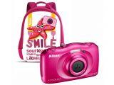 Nikon Coolpix S33 różowy + plecak