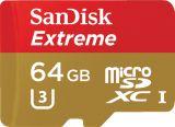 Sandisk microSDXC 64GB Extreme 90MB/s U3 UHS-I + SD Adapter do kamer sportowych