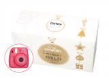 FujiFilm BOX Instax Mini 8S malinowy + papier Mini Glossy 10x2 + album