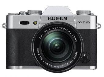 FujiFilm X-T10 srebrny + ob. XC 16-50mm + karta Sandisk 16 GB 80MB/s GRATIS CASHBACK 430 zł