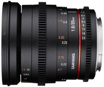 Samyang 20mm T1,9 VDSLR Sony E
