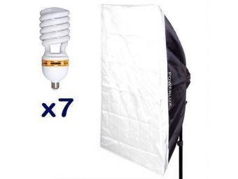 Funsports softbox 7-świetlówkowy RC-697 60x90cm + 7 świetlówek 65W