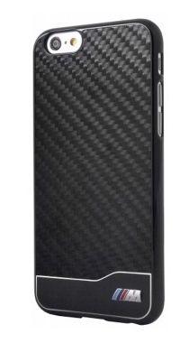 BMW M - Carbon i Aluminium, twarde etui na tył i boki do iPhone 6 czarne
