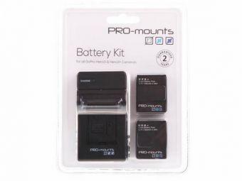 PRO-mounts Battery Kit ładowarka + 2 akumulatory do HERO3 i HERO3+