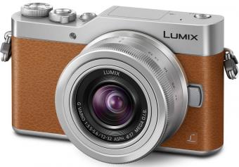 Panasonic Lumix DC-GX800 + ob. 12-32 brązowy