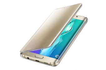 Samsung etui Clear View Cover do Galaxy S6 edge+ złote