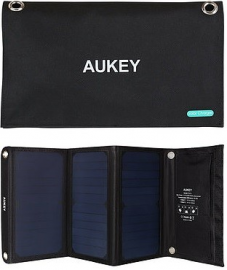 Aukey PB-P4 Ładowarka solarna/słoneczna 21W 2xUSB