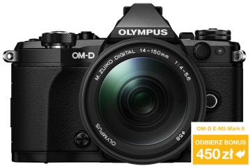 Olympus OM-D E-M5 Mark II czarny + ob. 14-150 II czarny