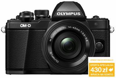 Aparat cyfrowy Olympus OM-D E-M10 Mark II + ob. 14-42 EZ czarny (Gdańsk)