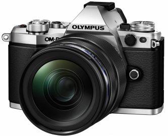 Olympus OM-D E-M5 Mark II srebrny + ob. 12-40 PRO + ob. 40-150 PRO + MC 1.4 czarny