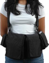 Newswear Womens Digital Chestvest - szelki z pokrowcami damskie czarne