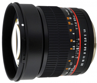 Samyang 85 mm f/1.4 IF UMC / Canon
