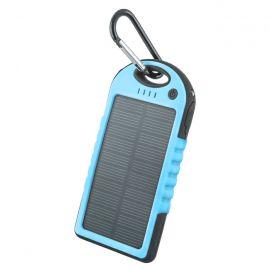 Forever Power Bank solarny 5000 mAh niebieski