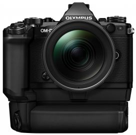 Olympus OM-D E-M5 Mark II + ob. 12-40 czarny + grip HLD-8 + bateria BLN-1