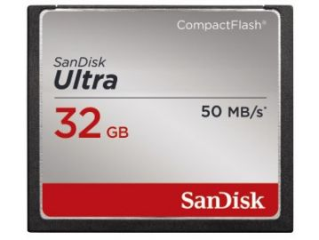 Sandisk CompactFlash 32 GB Ultra 50MB/s