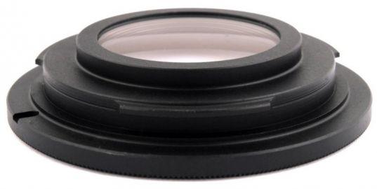 FoxFoto Adapter bagnetowy Nikon - M42 z soczewką MC (nieskończoność)