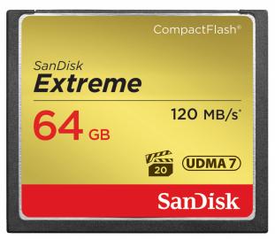 Sandisk CompactFlash EXTREME 64 GB 120 MB/s