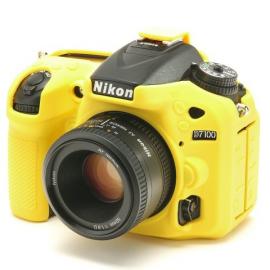 EasyCover  osłona gumowa dla Nikon D7100/7200 żółta