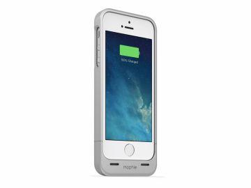 Mophie Juice Pack Helium (kolor srebrny) - obudowa ochronna z wbudowaną baterią (1500mAh) do iPhone 5/5S/SE