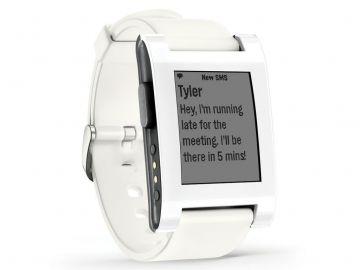 Pebble Original - zegarek dla urzadzeń z systemem iOS oraz Android (wersja arctic white)