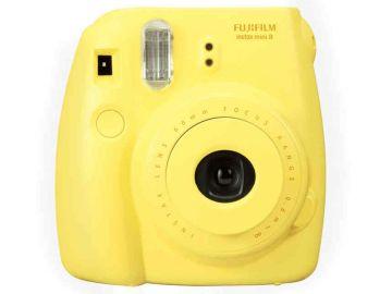 FujiFilm Instax Mini 8S żółty + papier Mini Glossy 10/PK + pokrowiec