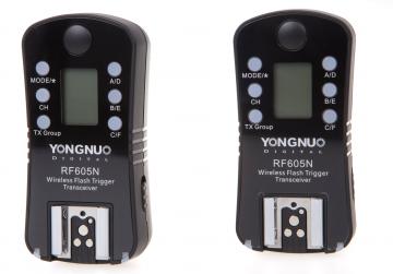 Yongnuo RF-605N zestaw 2 nadajników/odbiorników (stopka Nikon)
