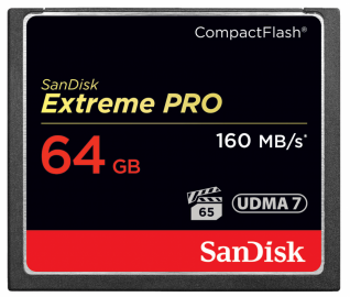Sandisk CompactFlash EXTREME PRO 64 GB 160 MB/s