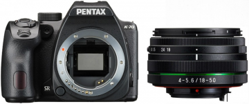 Pentax K-70 + ob.18-50 WR czarny