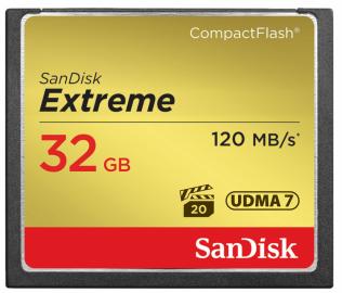 Sandisk CompactFlash EXTREME 32 GB 120 MB/s